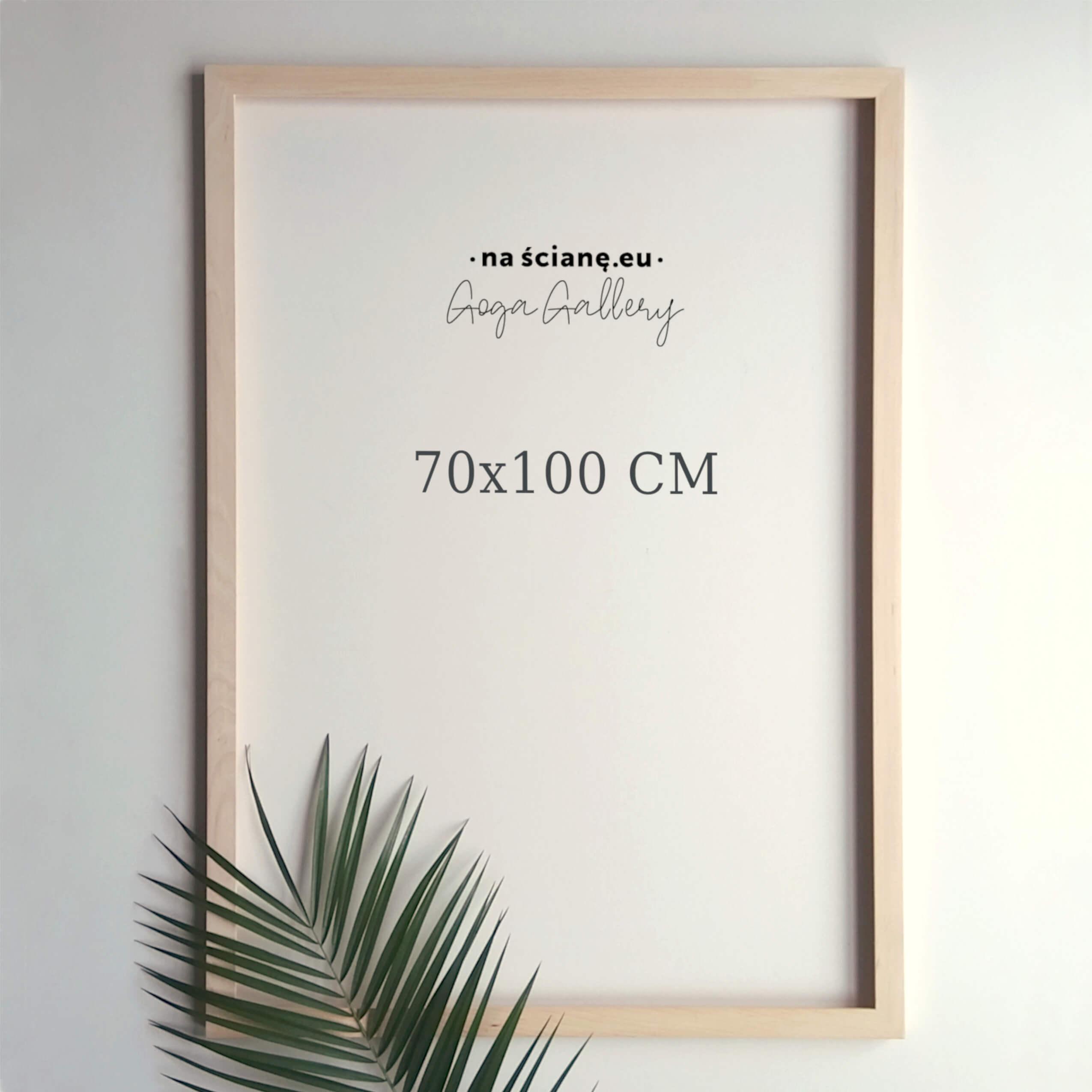 Drewniana rama na plakat lub zdjęcie, naturalna - 70x100 cm