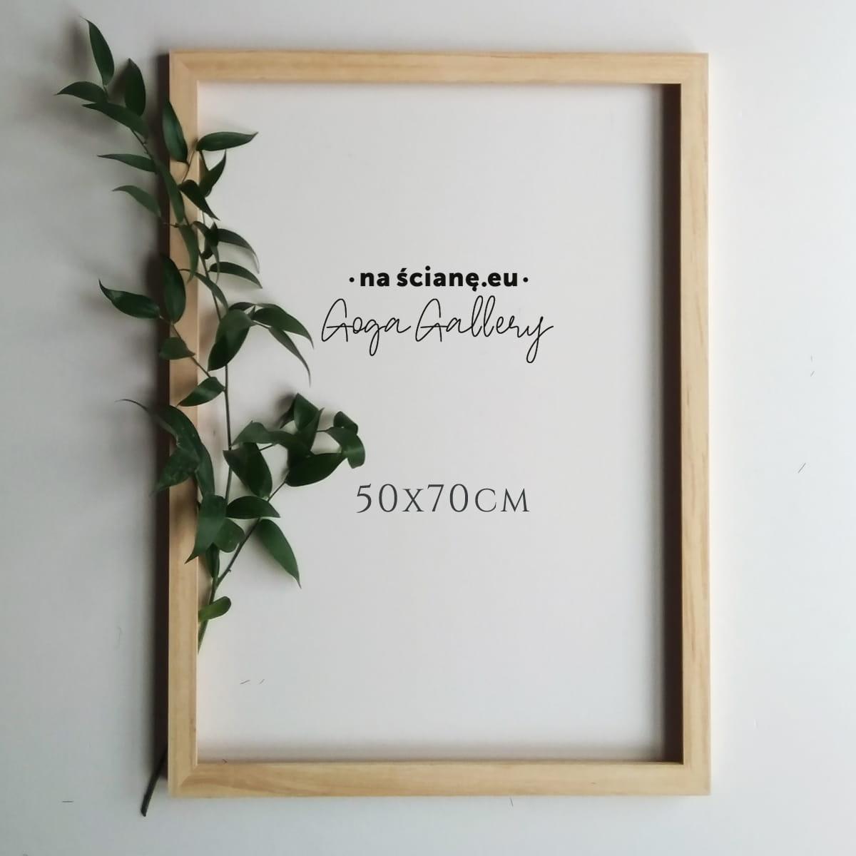 Drewniana ramka na plakat lub zdjęcie, naturalna - 50x70 cm